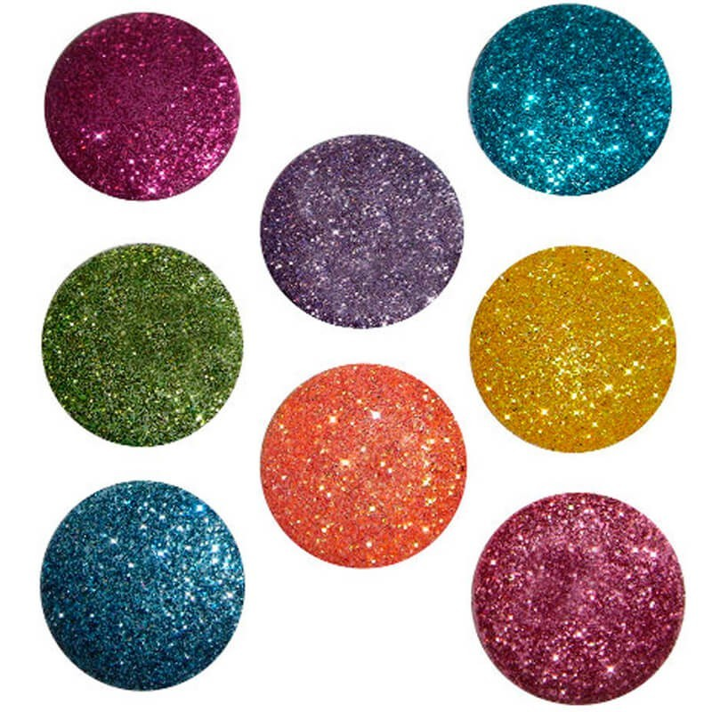 Botones Big Glitter Dots Brights - Dress It Up