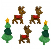 Boutons Reindeer Games - Dress It Up