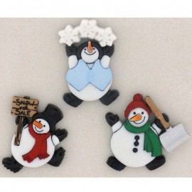 Boutons Roly Poly Snowman - Dress It Up