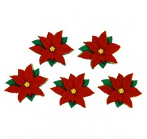 Boutons Red Poinsettias - Dress It Up