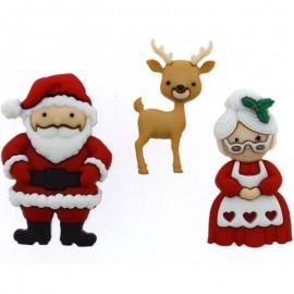 Boutons Mr. & Mrs. Claus - Dress It Up