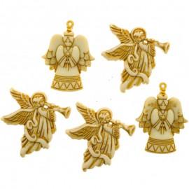 Botones Glitter Angels - Dress It Up