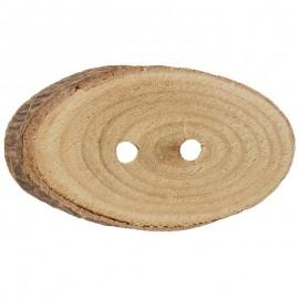 Boton Tronco de Madera de Pino Ovalado