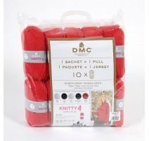 Pack de 10 pelotes Knitty 4 pour 1 pull + Patron - DMC