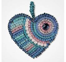 Kit de Bordado con Cuentas Colgante - Heart Hope