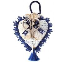 Coussin à Epingles Coeur avec Ciseaux - Vintage Collection - RTO