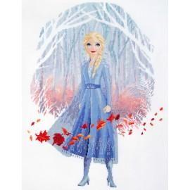 Kit Broderie au Point Compté - Disney - La Reine des Neiges 2 - Elsa- Vervaco