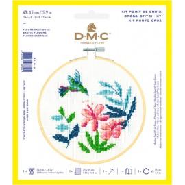 Kit de Point de Croix  - Fleurs Exotiques - DMC