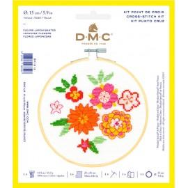 Kit de Point de Croix  - Fleurs Japonisantes - DMC