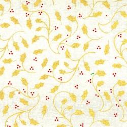 Tissu en Coton – Houx Doré
