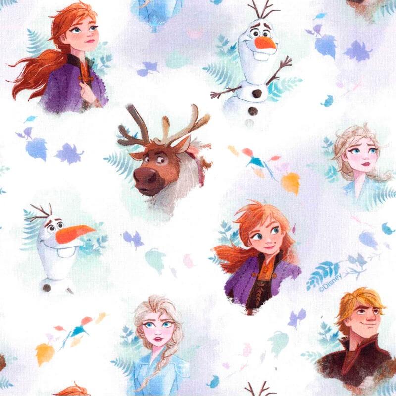 Tissu En Coton La Reine Des Neiges Frozen Les Ciseaux Magiques