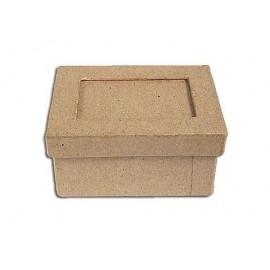 Caja papel maché con marco rectangular