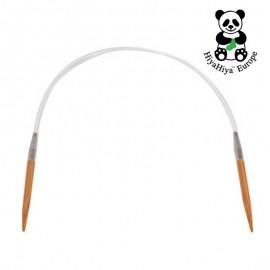 Aiguilles circulaires de bambou 80 cm HiyaHiya
